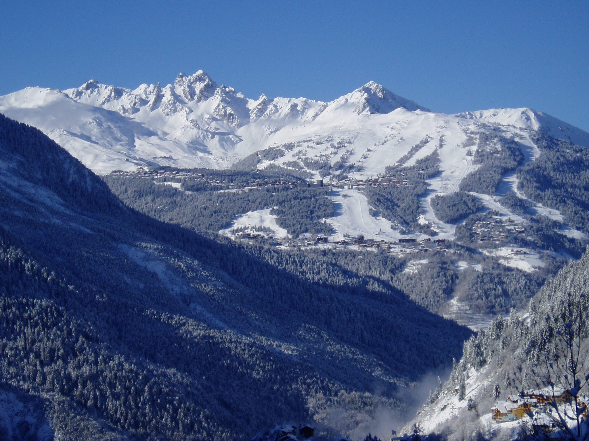 Courchevel, en face de Champagny